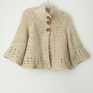Free People   Button Front Wool Blend Sweater XS